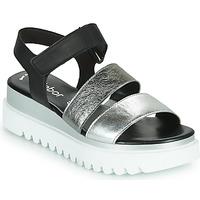 Pantofi Femei Sandale  Gabor 6461061 Negru / Alb / Argintiu