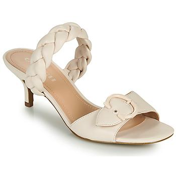 Pantofi Femei Papuci de vară Coach MOLLIE Alb fildeș