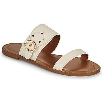 Pantofi Femei Papuci de vară Coach HARLOW Alb fildeș