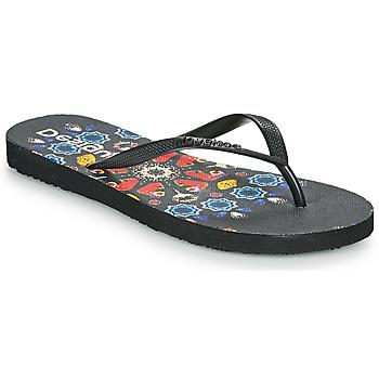 Pantofi Femei  Flip-Flops Desigual FLIP FLOP BUTTERFLY Negru