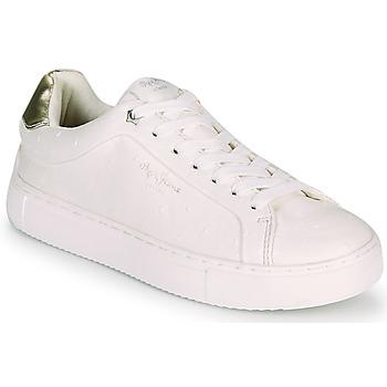 Pantofi Femei Pantofi sport Casual Pepe jeans ADAMS MOLLY Alb / Auriu