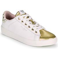 Pantofi Femei Pantofi sport Casual Pepe jeans KIOTO FIRE Alb / Auriu