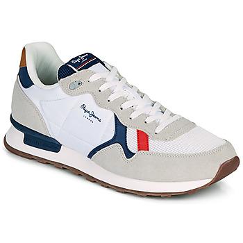 Pantofi Bărbați Pantofi sport Casual Pepe jeans BRITT MAN BASIC Alb / Bej
