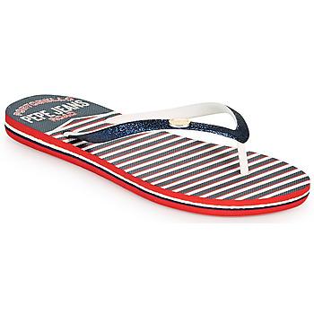 Pantofi Femei  Flip-Flops Pepe jeans RAKE SAILOR Albastru / Alb / Roșu