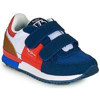 Pantofi Băieți Pantofi sport Casual Pepe jeans SYDNEY TREND BOY KIDS SS21 Albastru / Roșu