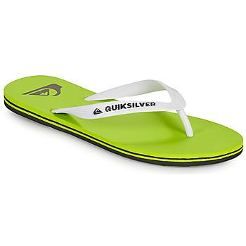 Pantofi Bărbați  Flip-Flops Quiksilver MOLOKAI Verde / Alb