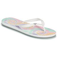 Pantofi Femei  Flip-Flops Roxy TAHITI VII Alb / Roz