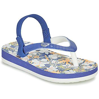 Pantofi Fete  Flip-Flops Roxy TW PEBBLES VI Albastru