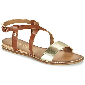Pantofi Femei Sandale  Ravel ASPEN Auriu / Camel