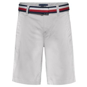 Îmbracaminte Băieți Pantaloni scurti și Bermuda Tommy Hilfiger FORTA Alb