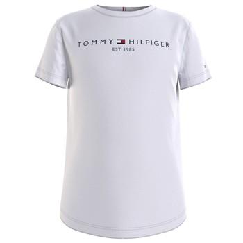Îmbracaminte Fete Tricouri mânecă scurtă Tommy Hilfiger KG0KG05242-YBR Alb