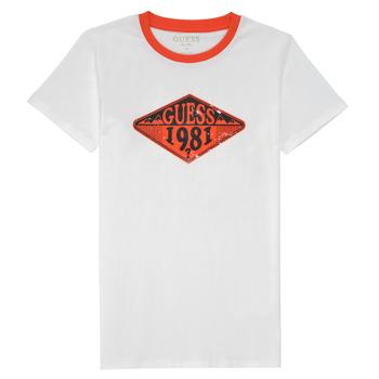 Îmbracaminte Băieți Tricouri mânecă scurtă Guess L1GI09-K8HM0-TWHT Alb