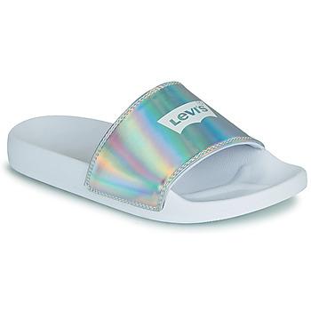 Pantofi Femei Șlapi Levi's JUNE BATWING S Argintiu