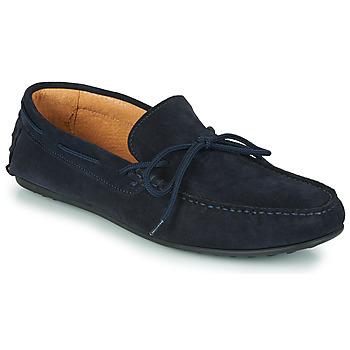 Pantofi Bărbați Mocasini Selected SERGIO DRIVE SUEDE Albastru