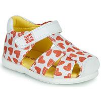 Pantofi Fete Sandale  Agatha Ruiz de la Prada HAPPY Alb / Roșu