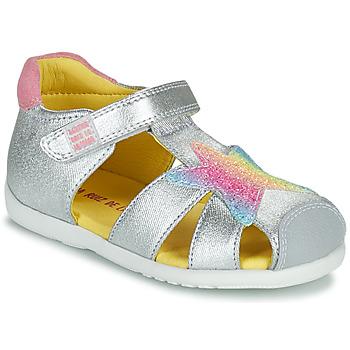 Pantofi Fete Sandale  Agatha Ruiz de la Prada HAPPY Argintiu