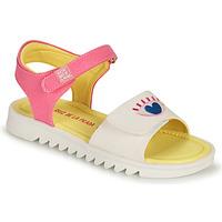 Pantofi Fete Sandale  Agatha Ruiz de la Prada SMILEY Alb / Roz