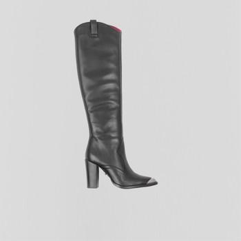 Pantofi Femei Cizme casual Bronx Bottes femme  New-Americana noir