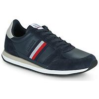 Pantofi Bărbați Pantofi sport Casual Tommy Hilfiger RUNNER LO LEATHER STRIPES Albastru