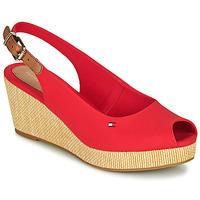 Pantofi Femei Sandale  Tommy Hilfiger ICONIC ELBA SLING BACK WEDGE Portocaliu