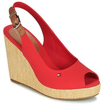 Pantofi Femei Sandale  Tommy Hilfiger ICONIC ELENA SLING BACK WEDGE Portocaliu