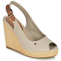Pantofi Femei Sandale  Tommy Hilfiger ICONIC ELENA SLING BACK WEDGE Taupe