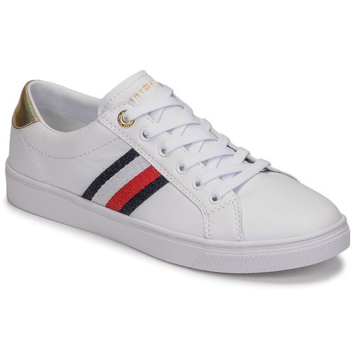 Pantofi Femei Pantofi sport Casual Tommy Hilfiger TH CORPORATE CUPSOLE SNEAKER Alb