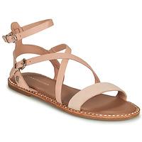 Pantofi Femei Sandale  Tommy Hilfiger ESSENTIAL TOMMY FLAT SANDAL Coniac