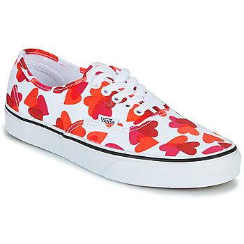 Pantofi Femei Pantofi sport Casual Vans AUTHENTIC Alb / Roșu