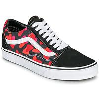 Pantofi Femei Pantofi sport Casual Vans OLD SKOOL Negru / Roșu
