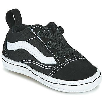 Pantofi Copii Pantofi sport Casual Vans OLD SKOOL CRIB Negru / Alb