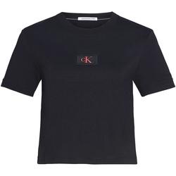 Îmbracaminte Femei Tricouri & Tricouri Polo Calvin Klein Jeans J20J214148 Negru