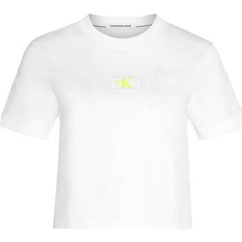 Îmbracaminte Femei Tricouri & Tricouri Polo Calvin Klein Jeans J20J214148 Alb