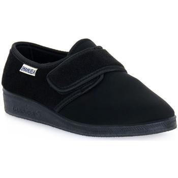 Pantofi Bărbați Papuci de casă Emanuela 601 NERO PANTOFOLA Nero