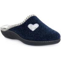 Pantofi Femei Papuci de casă Emanuela 1800 BLU PANTOFOLA Blu