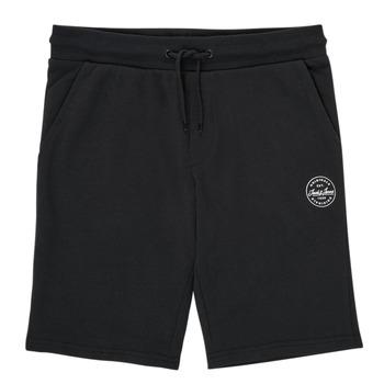 Îmbracaminte Băieți Pantaloni scurti și Bermuda Jack & Jones JJI SHARK JJSWEAT Negru