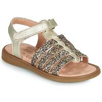 Pantofi Fete Sandale  Acebo's 5498GE-PLATINO-J Auriu