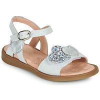 Pantofi Fete Sandale  Acebo's 5500SU-BLANCO Alb / Argintiu