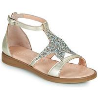 Pantofi Fete Sandale  Acebo's 9895GE-PLATINO-J Auriu
