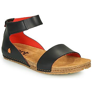 Pantofi Femei Sandale  Art CRETA Negru / Roșu