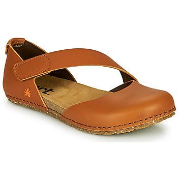 Pantofi Femei Balerin și Balerini cu curea Art CRETA Maro