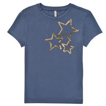 Îmbracaminte Fete Tricouri mânecă scurtă Only KONMOULINS STAR Albastru