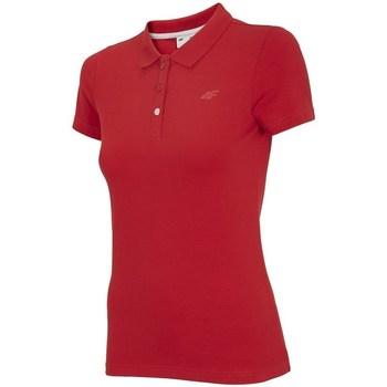 Îmbracaminte Femei Tricou Polo mânecă scurtă 4F TSD008 Roșii