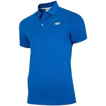 Îmbracaminte Bărbați Tricou Polo mânecă scurtă 4F TSM007 Albastre