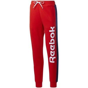 Îmbracaminte Femei Pantaloni de trening Reebok Sport TE Liner Logo French Terry Roșii