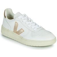 Pantofi Femei Pantofi sport Casual Veja V-10 Alb / Auriu
