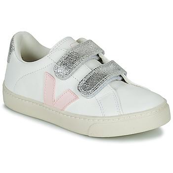 Pantofi Fete Pantofi sport Casual Veja SMALL ESPLAR VELCRO Alb / Auriu