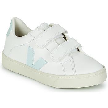 Pantofi Fete Pantofi sport Casual Veja SMALL ESPLAR VELCRO Alb / Albastru / Roșu