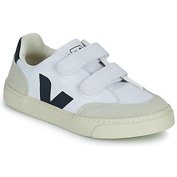 Pantofi Băieți Pantofi sport Casual Veja SMALL V-12 VELCRO Alb / Albastru