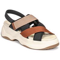 Pantofi Femei Sandale  Vagabond Shoemakers ESSY Alb / Maro ruginiu / Negru
